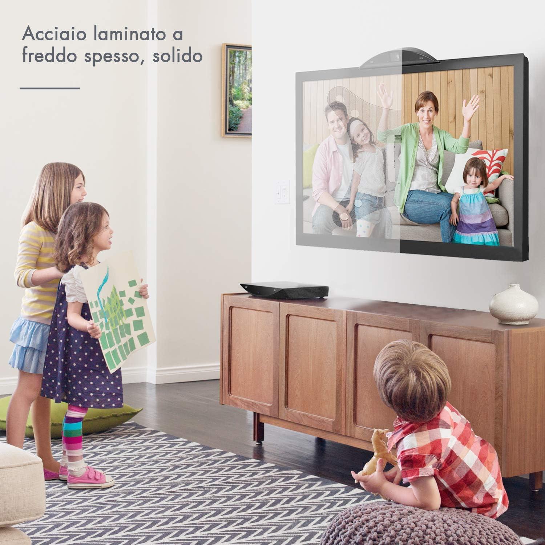 110lbs Staffa TV Supporto da Parete Inclinazione e Rotazione 55-152cm LCD LED Plasma 4K 3D per TV a Schermo Piatto Famgizmo Supporto TV per 22-60 pollici Carico 50kg Max VESA 400x600mm
