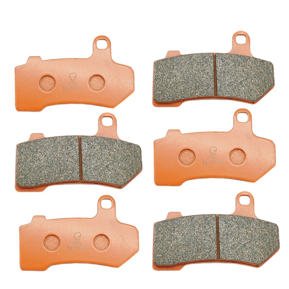 Carbon Fiber Brake Pads Lefossi Motorcycle Replacement Front and Rear Braking Pads Kits Set for Kawasaki Concours 14 ZG 1400 ZZR GTR ZX 1400 Ninja 2006-2014 FA417F FA254R