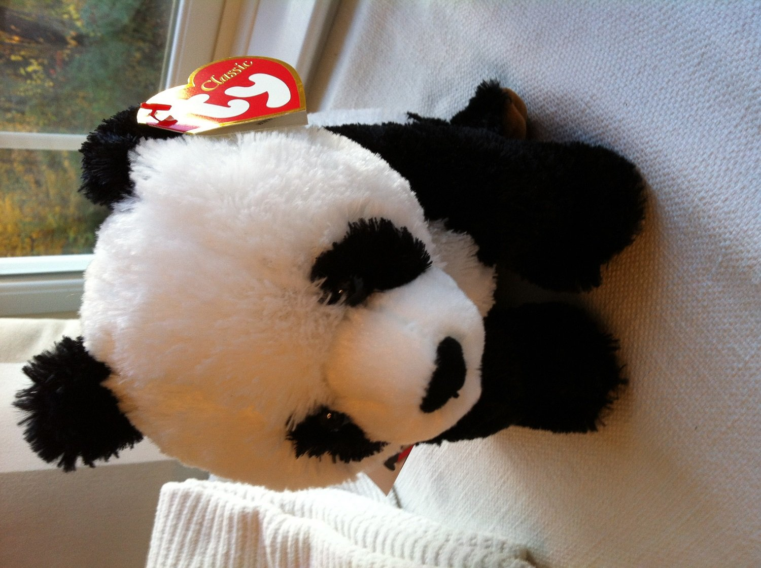 Ty Classic Beckett the Panda w// Red Collar Borders Exclusive