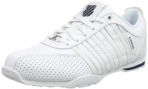 K-Swiss 03941-173-M - Zapatillas de Otra Piel Hombre, Color Blanco ...