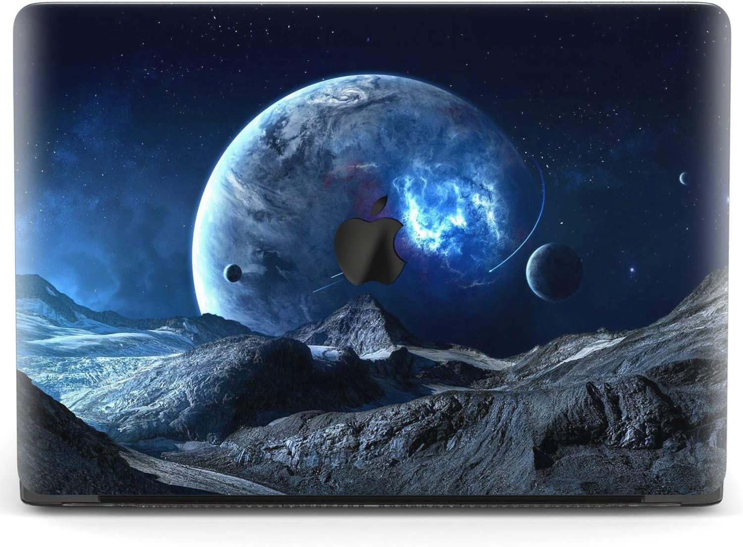 Mertak Hard Case for Apple MacBook Pro 16 Air 13 inch Mac 15 Retina 12 11 2020 2019 2018 2017 Plastic Protective Touch Bar Space Landscape Cover Planet Design Shell Universe Fantasy Print Sci-Fi