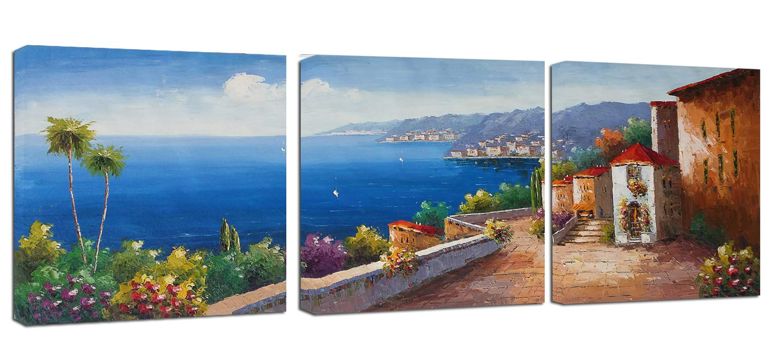 Canvas Wall Art Mediterranean Sea Artwork - 12