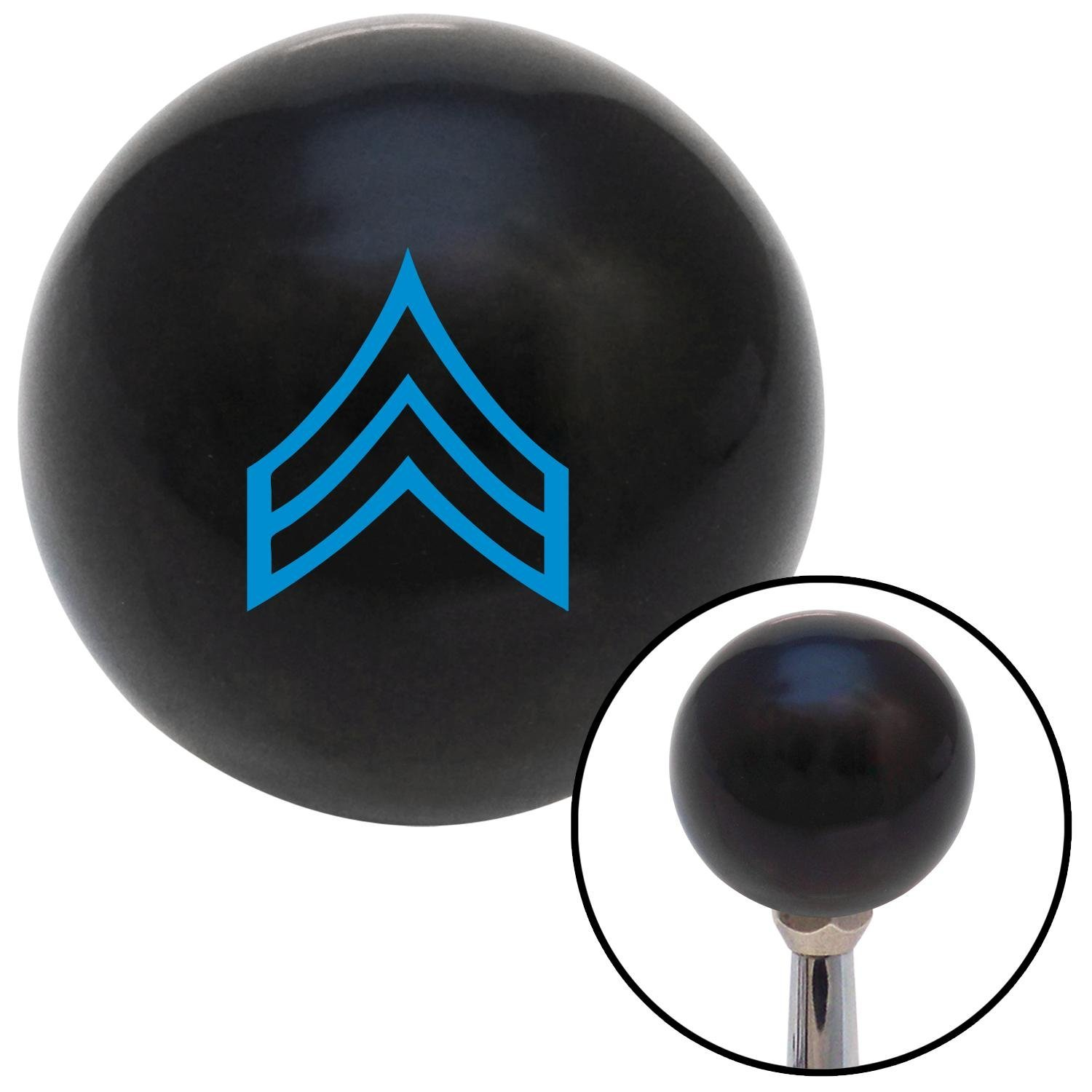 Blue Corporal American Shifter 106555 Black Shift Knob with M16 x 1.5 Insert