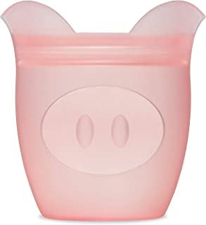 product image for Zip Top Reusable 100% Silicone Baby + Kid Snack Containers- The only containers that stand up, stay open and zip shut! No Lids! - Pink Pig