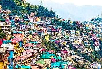 aofoto 6x4ft colorful houses residential area backdrop beautiful panorama hillside little houses city landscape vinyl photo studio props travel tour