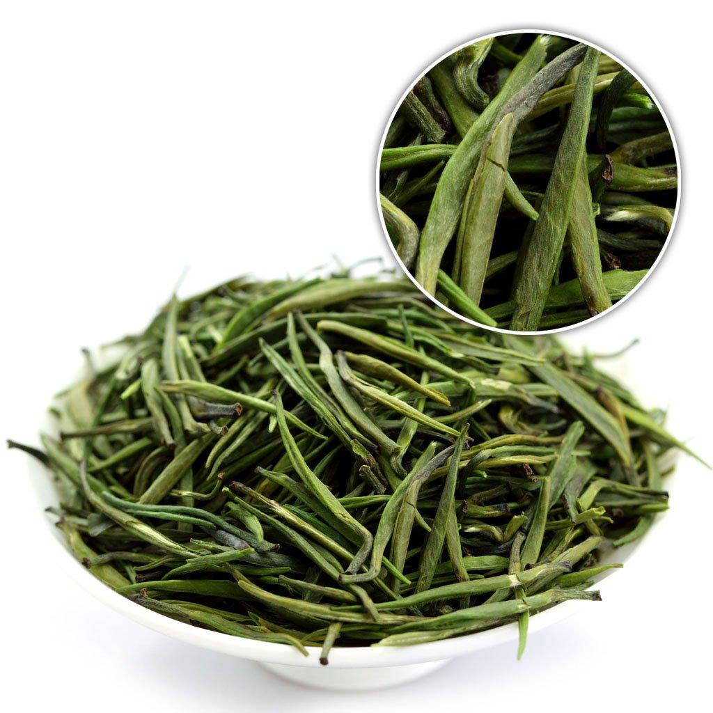 GOARTEA 50g (1.76 Oz) Premium Organic Handmade Zhu Ye Qing Spring Loose Bamboo Leaf Spring Chinese GREEN TEA