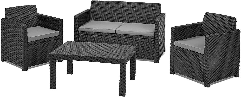Chicreat 8-Piece Plastic Garden Furniture Set: Amazon.co.uk