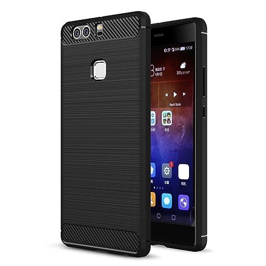 22 opinioni per MOONCASE Huawei P9 Plus Custodia, Fibres de carbone Rigida Flexible [Goccia