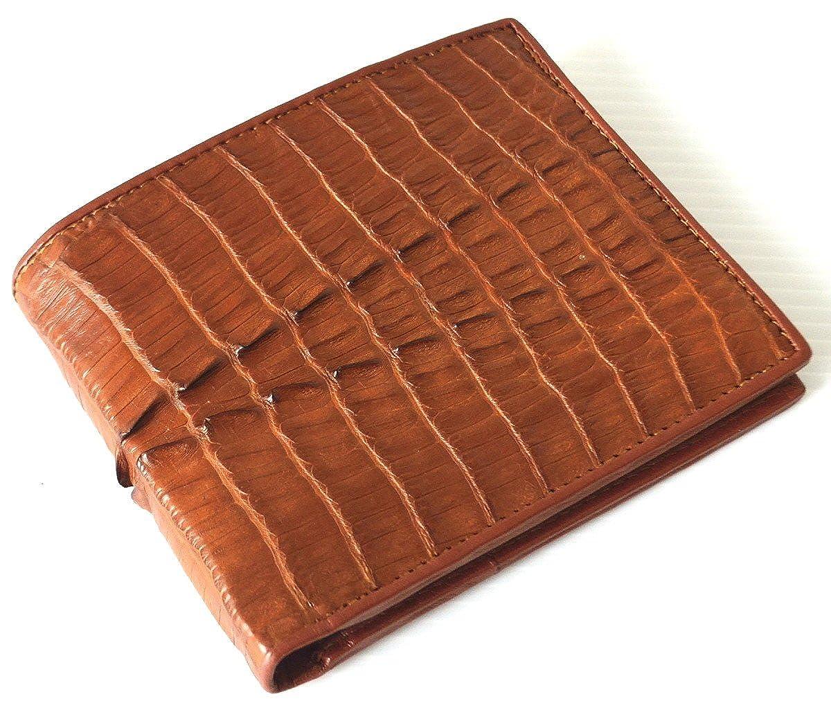 Authentic M Crocodile Skin Mens Bifold Crocodile Tail Skin Leather Wallet