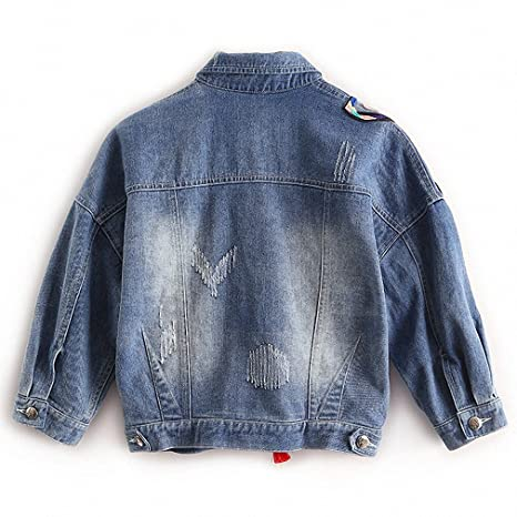Huiwa Womens Denim Jacket colorful Butterfly Embroidery Jeans Jackets Patch Designs at Amazon Womens Coats Shop