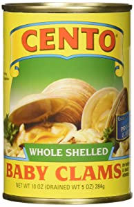 Cento Clam Baby Whole, 10 Ounce (Pack of 12)