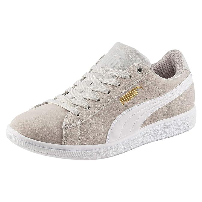 19f75183779a Puma Damen Sneakers Vikky – Bequeme Leder-Turnschuhe im Basketball-Style,  angenehm gepolstert Vikky Softfoam  Amazon.de  Schuhe   Handtaschen