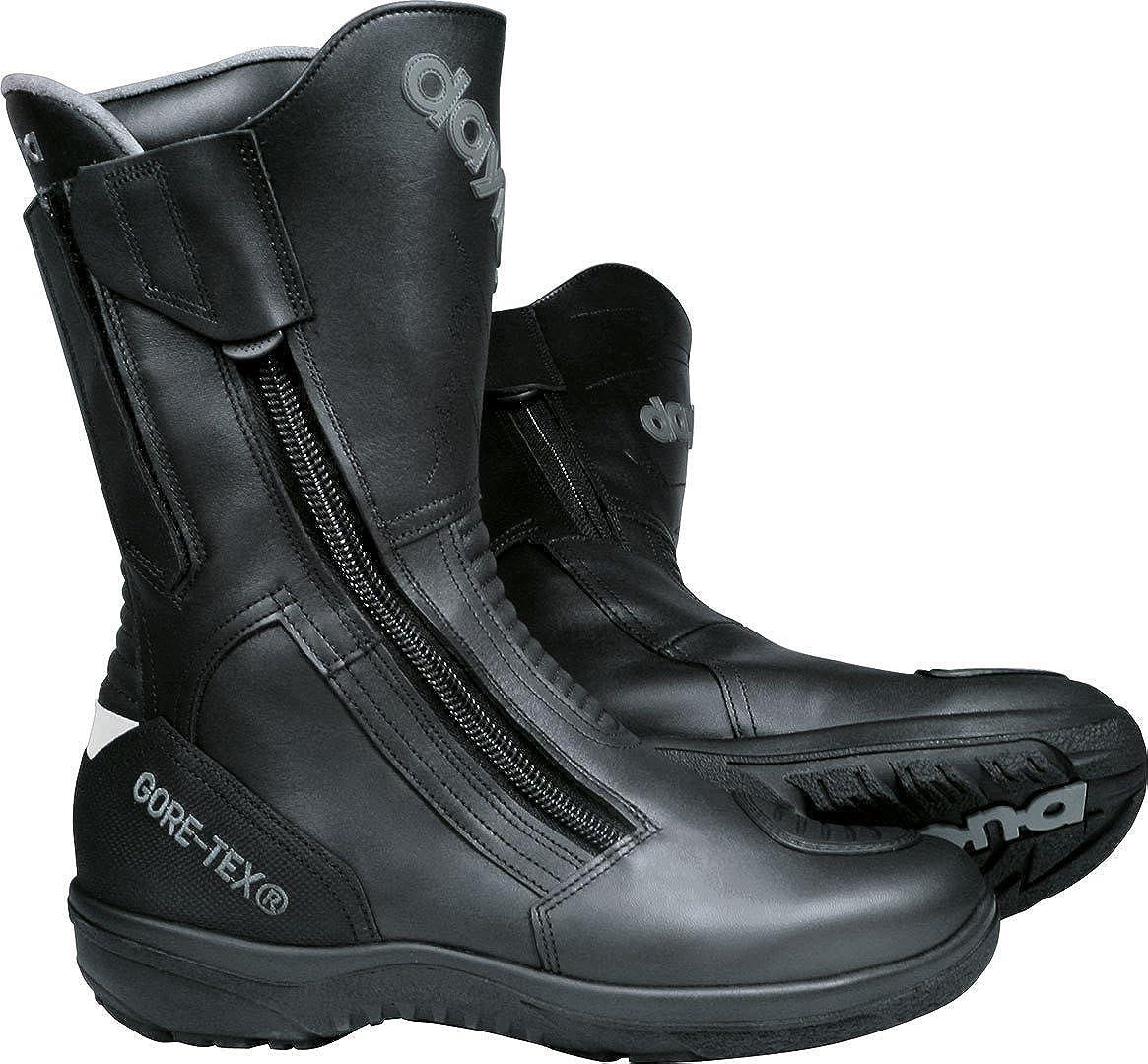 Daytona Boots Motorradschuhe Motorradstiefel Lang Road Star Gore Tex Stiefel Schwarz Breite Passform 46 Unisex Tourer Ganzjährig Leder Schuhe Handtaschen