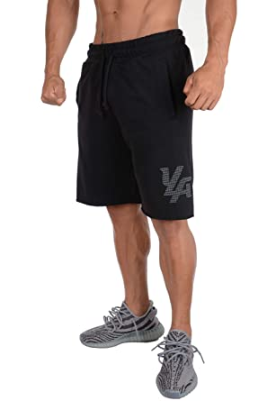 4d7f35e1c07e YoungLA Basketball Shorts for Men Running Gym Casual Athletic Relaxed Fit  w Pockets 115 Black
