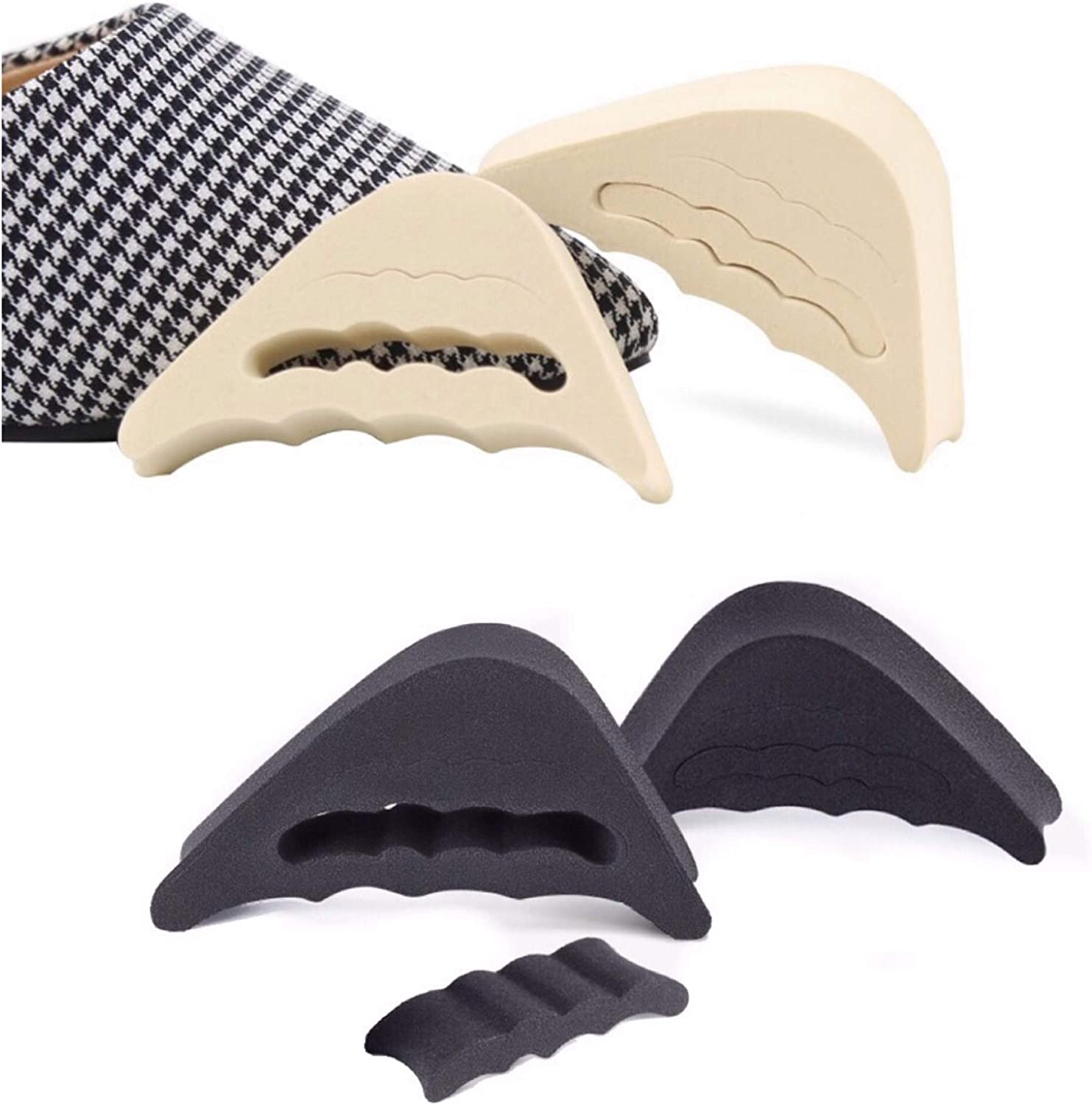 CaserBay Value Pack, EVA Shoe Filler, Inserts, Improve Shoes Slightly Too Big, for Men & Women, Kids, Pumps, Flats, Sneakers【Style A, Nude & Black】