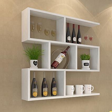 Amazoncom Wall Mounted Wine Cabinet Wall Hanging Bookshelf Modern