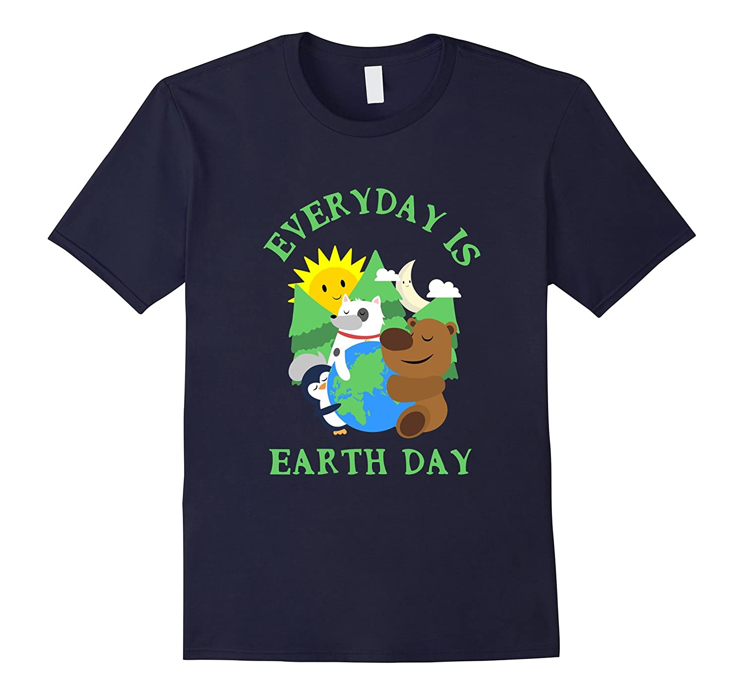 CUTE EVERYDAY IS EARTH DAY T-SHIRT Love Animal Earth Gift-TH