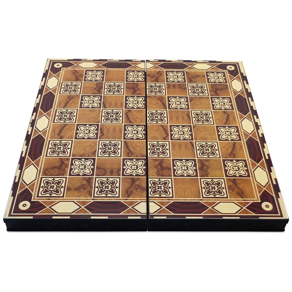 The 19 Turkish Shield Backgammon Board Game Set shayniyenigun SG/_B01DABYSA8/_US