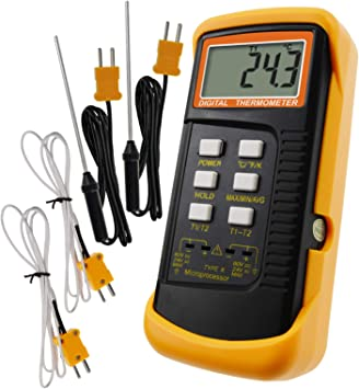 Amazon Com Digital 2 Channels K Type Thermometer W 4 Thermocouples Wired Stainless Steel 50 1300 C 58 2372 F Handheld Desktop High Temperature Kelvin Scale Dual Measurement Meter Sensor Home Improvement At high temperatures, degrees celsius and kelvins become. digital 2 channels k type thermometer w 4 thermocouples wired stainless steel 50 1300 c 58 2372 f handheld desktop high temperature kelvin