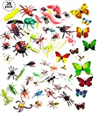 """OOTSR 39 Pcs Random Plastic Insects Bug Toys for Kids Boys, 2-6"""" Fake Bugs - Fake Spiders, Cockroaches, Scorpions…"""
