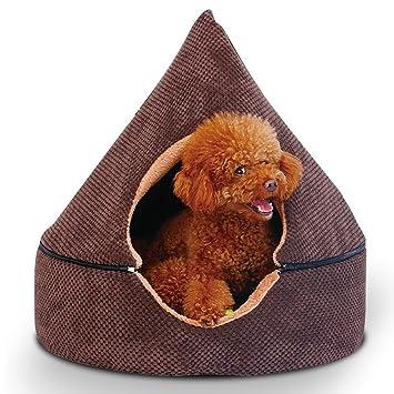 petsfansta 2-in-1 Premier lavable Mongolia Yurt redondo perro camas casa para perros