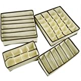 5 tela sin tejer ropa interior ordenado práctico caja calcetines cortos cajón lazos guardatodo bolsa organizador