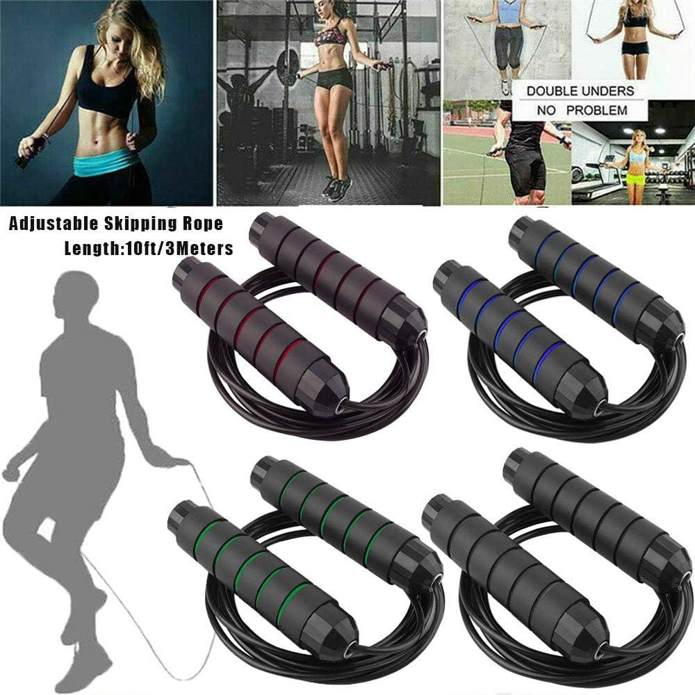 HUOYANS Jump Rope ,Angle-Free Ball Bearing Fast Rope Skipping Adjustable Memory Foam Anti Skid Handle Skipping Rope