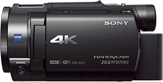 Sony Handycam FDR-AX33 4KUHD - Videocámara (pantalla de 3