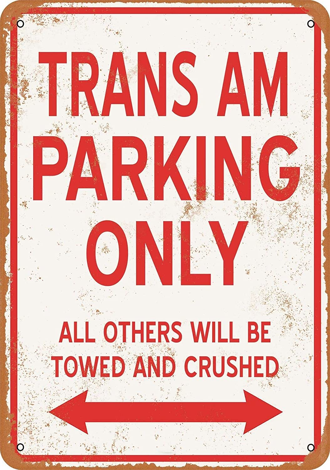 Tin Sign Metal Street Trans AM Parking ONLY Vintage Look 8x12inches, Metal Tin Sign Wall Decor