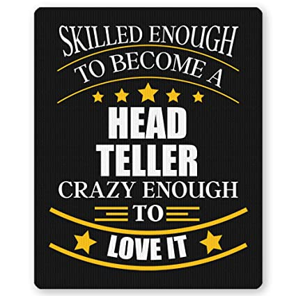 Amazon.com : Head Teller Mouse pad (Mousepad) for Offce Job ...