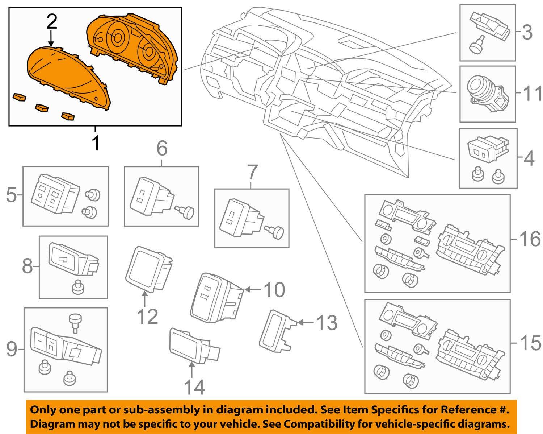 Honda Genuine 78100-TK8-A22 Combination Meter Assembly