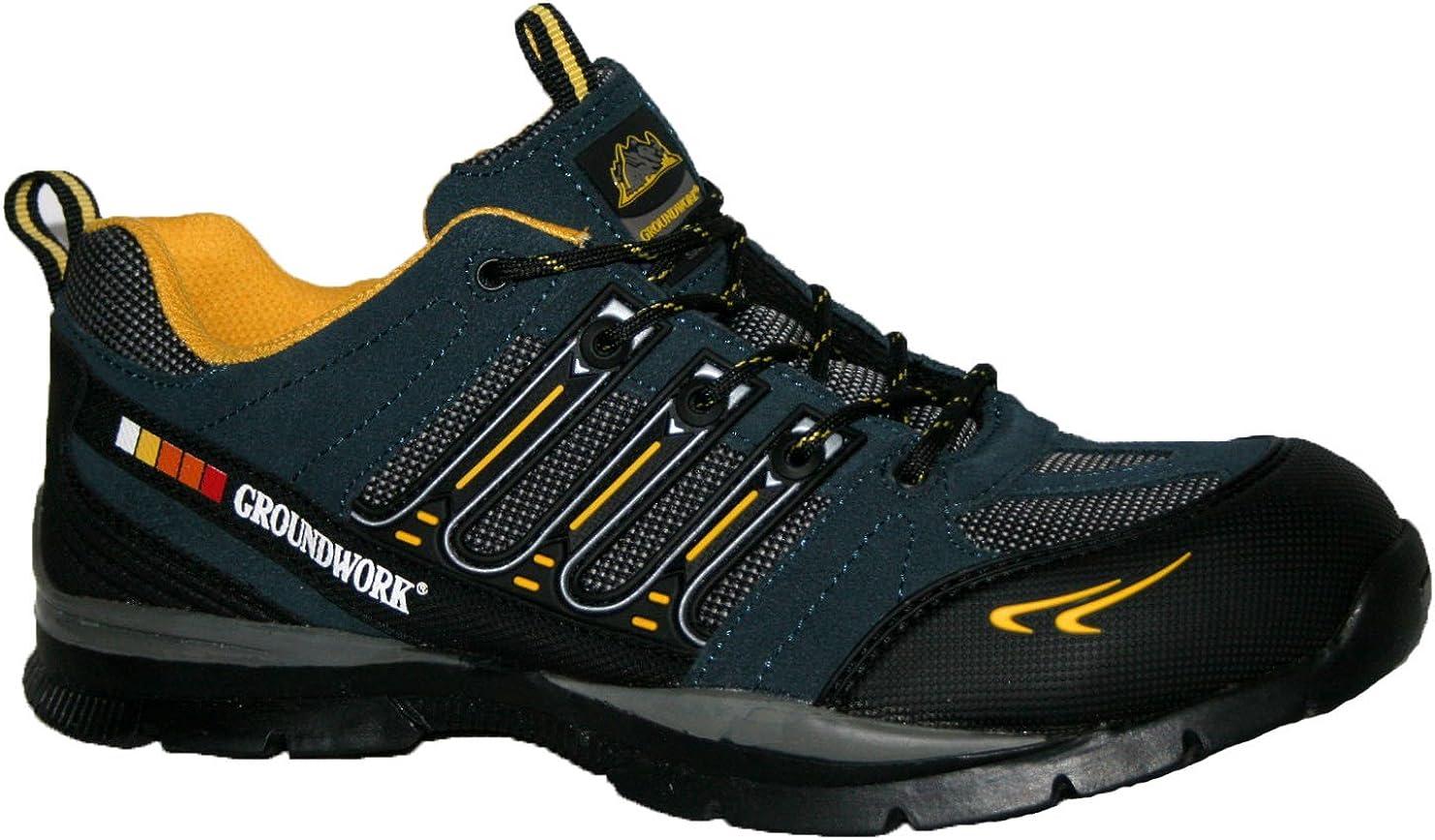 Groundwork GR55 Zapatillas de trabajo con cordones y puntera de acero para hombre