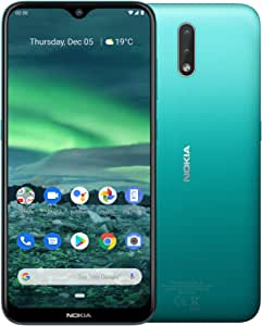 """Nokia 2.3 Android One Smartphone (Official Australian Version) Unlocked Mobile Phone with 2-Day Battery, AI Dual-Cameras, Vibrant 6.2"""" HD+ Screen, Face Unlock, 3 Years of Security, 32GB, Cyan Green"""