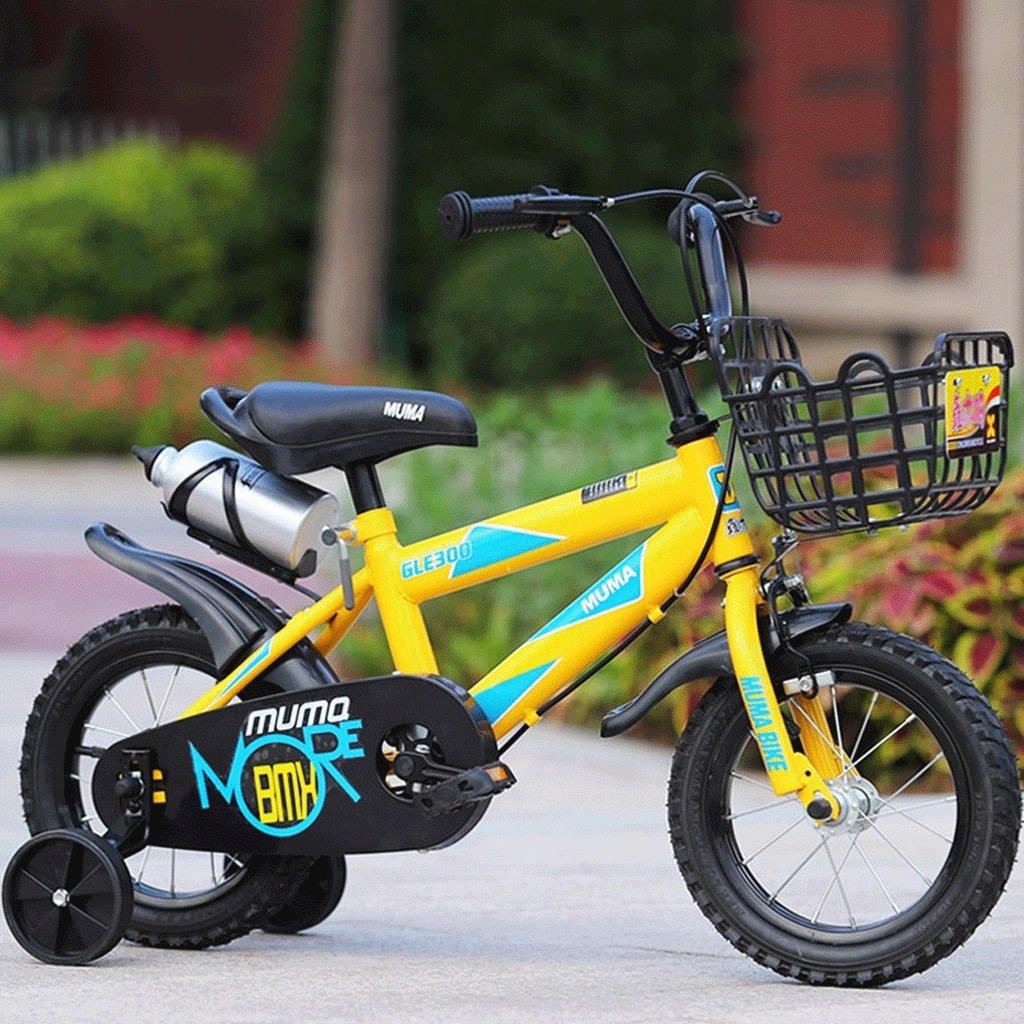 LI HAO SHOP Niños bicicleta cochecito cochecito cochecito de bebé niños bicicleta de montaña (con versión de botella de deporte) (Color : Yellow, Size : 21 in) c5625e