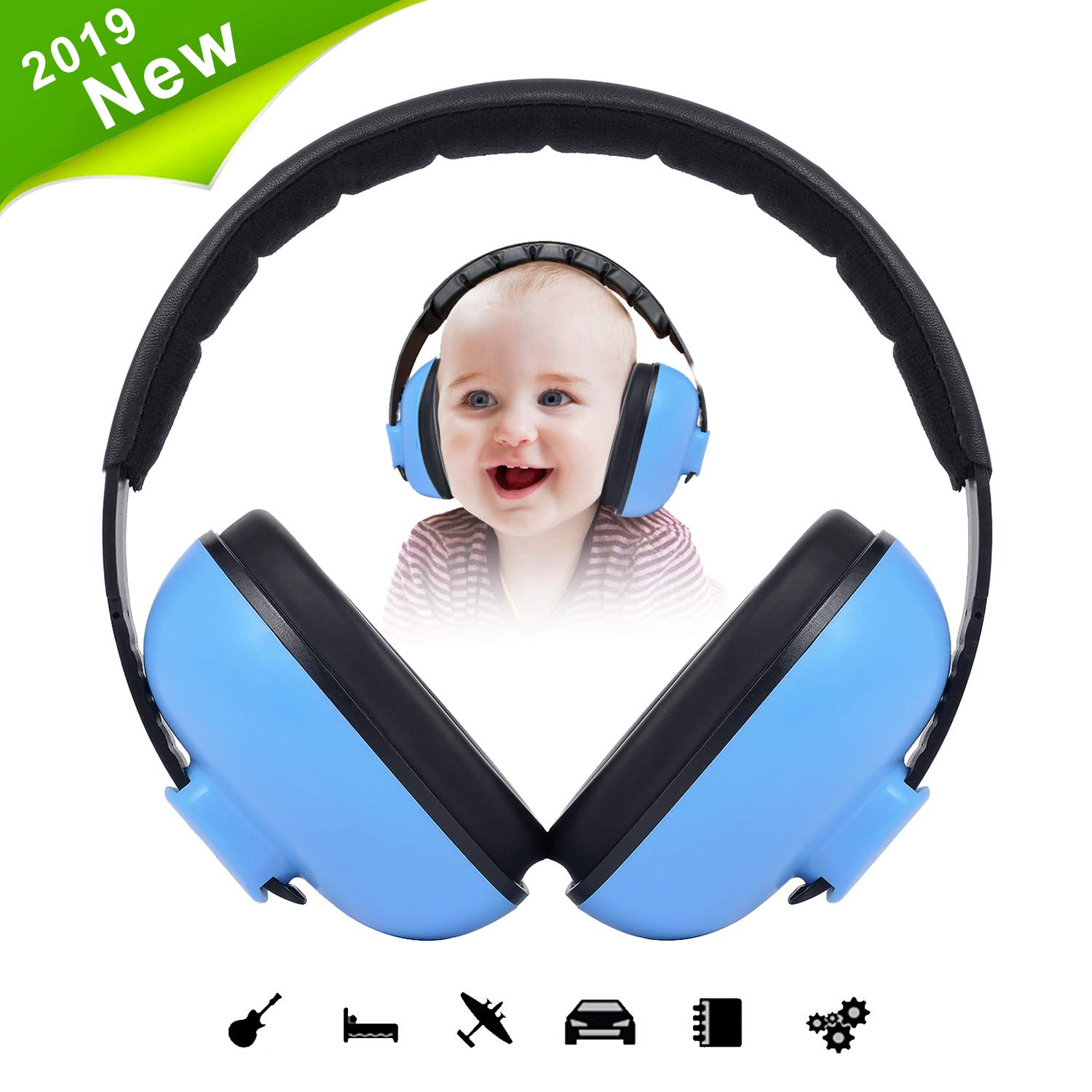 Baby Earmuffs Infant Hearing Protection, Baby Noise Cancelling Headphones, Special Designed Comfort Fit for 2 Months to 3 Years