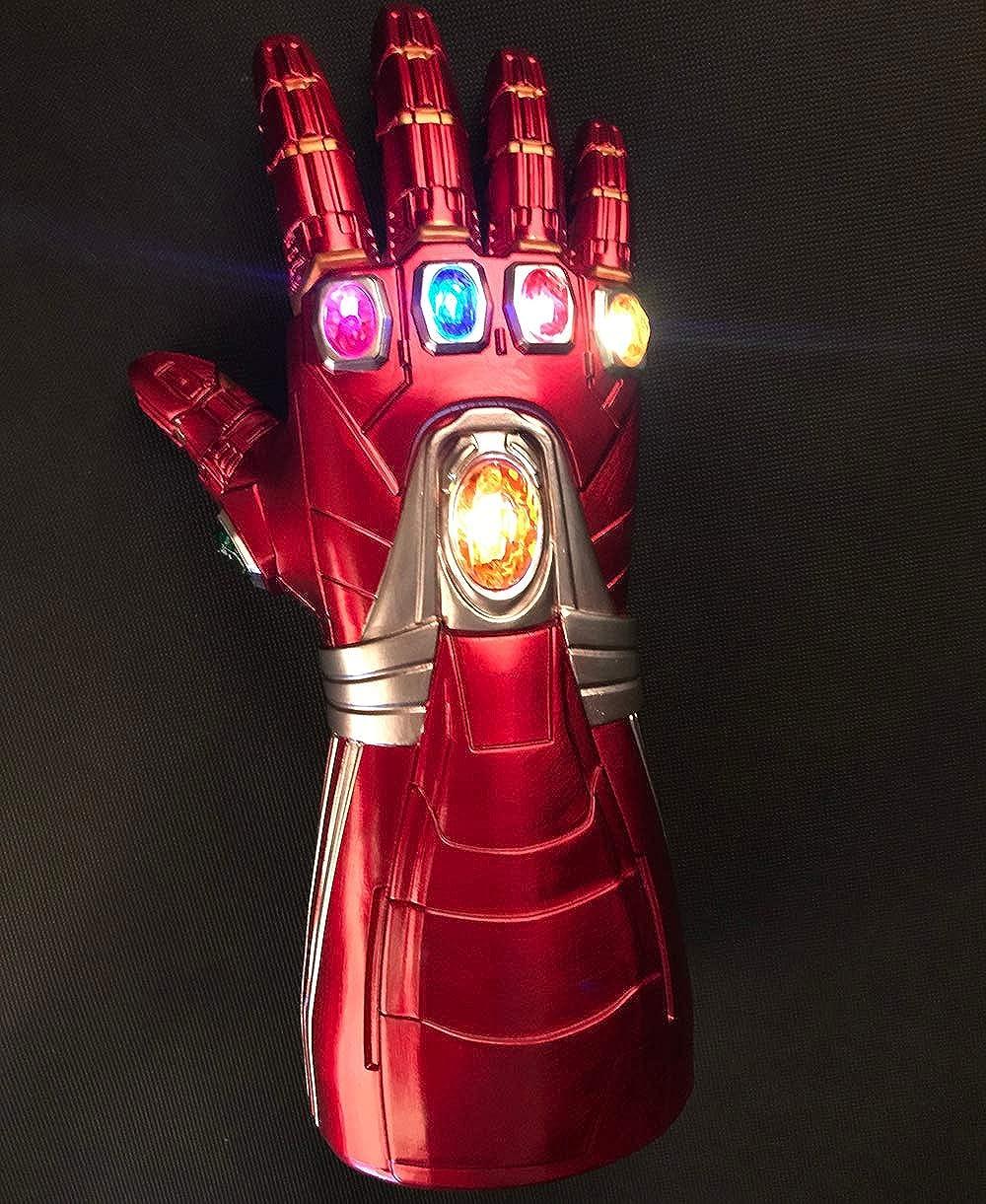 Avengers Endgame Iron Man Infinity Stone Gauntlet Glove Light Up Yacn Iron Man Gauntlet