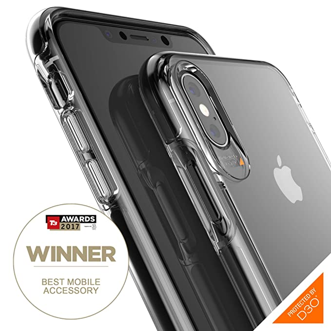 info for 087c1 9426c Gear4 Piccadilly Clear Case with Advanced Impact Protection [ Protected by  D3O ], Slim, Tough Design for iPhone Xs Max - Black