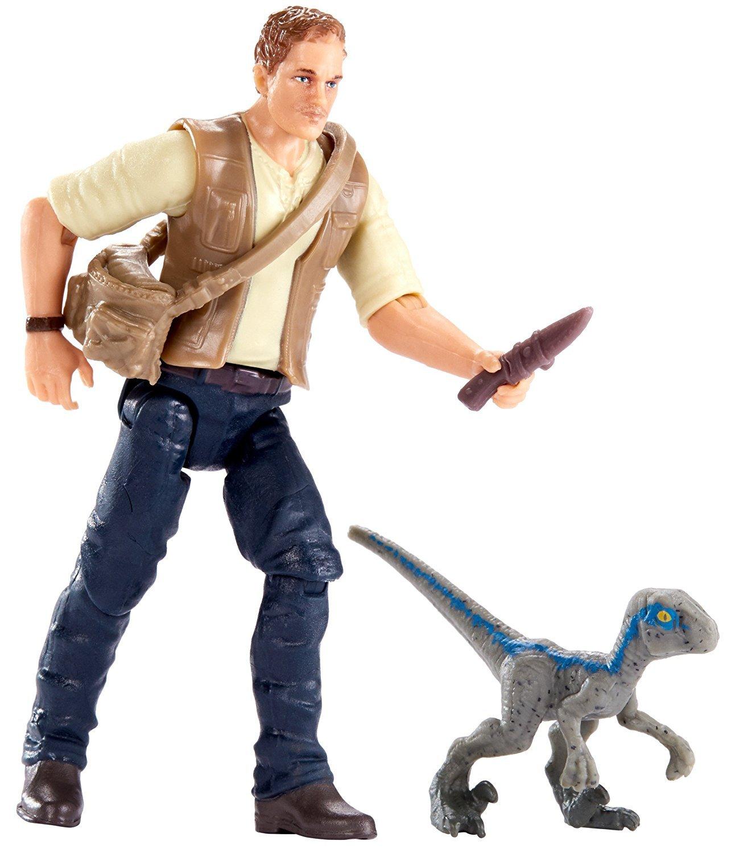 JWIF Jurassic World Fallen Kingdom Owen /& Baby Blue Dinosaur Posable Figure 3.75 2018