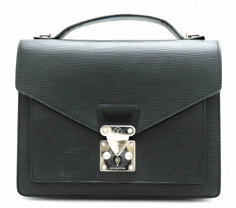 [ルイ ヴィトン] LOUIS VUITTON エピ モンソー セカンドバッグ ハンドバッグ ビジネスバッグ ノワール 黒 ブラック シルバー金具 M52792 B07DFCNNJ1