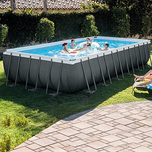 Intex 26364NP Piscina Ultra Frame Rect, 732 x 366 x 132 cm: Amazon ...