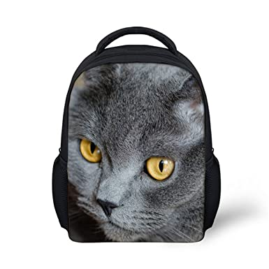 3D Cat Animal Children Casual Backpack Little Kids Shoulder School Bags Book Bagpack,H4552F