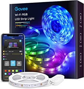 Govee Smart RGB Led Strip Lights, 16.4 Feet, Works with Alexa, for Home, Party, Kitchen