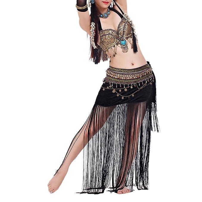 BellyLady Disfraz de gitana tribal Sujetador y falda de danza del ...