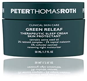 Green Releaf Therapeutic Sleep Cream Skin Protectant, Calming Moisturizer with Hemp-Derived Cannabis Sativa Seed Oil, Helps Calm the Look of Inflammation