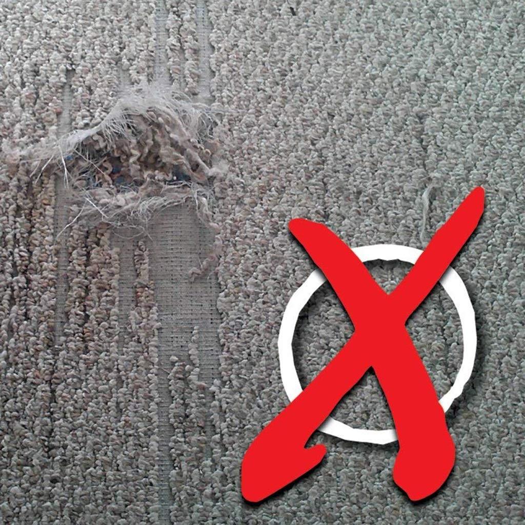 gr/ö/ße : 80cm 1,5 mm dick Teppich Xiao Jian- PVC Rutschfeste Stuhlmatte Harter Bodenschutz Runde Kopfsteinform Durchmesser 80//90//100//120 cm
