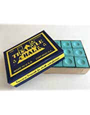 12 pcs World famous Triangle green Snooker Pool Chalk in genuine Triangle Box , not loose