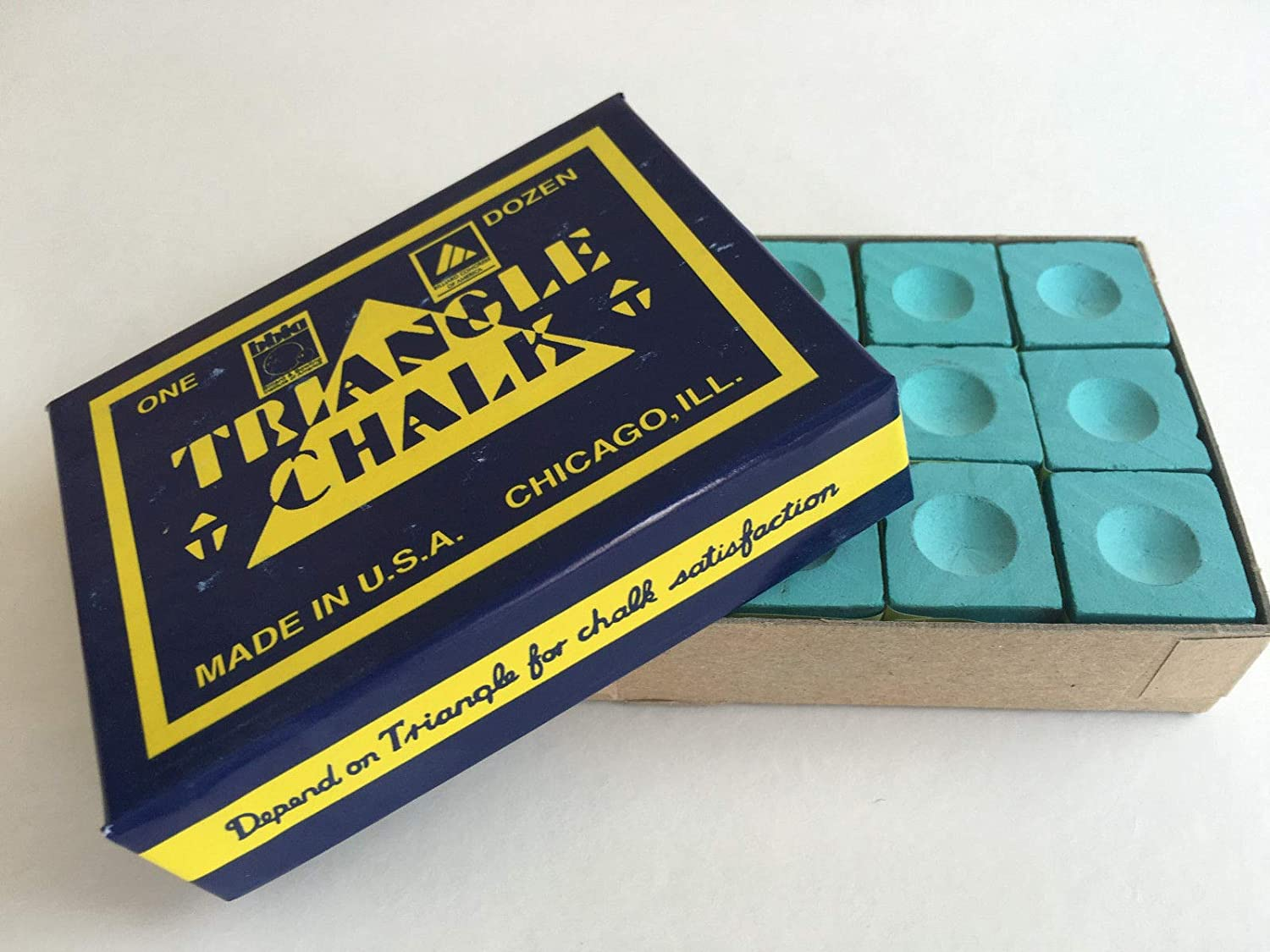 12 PCS OF TRIANGLE PRO CHALK FOR THE SERIOUS PLAYER** by TRIANGLE CHALK