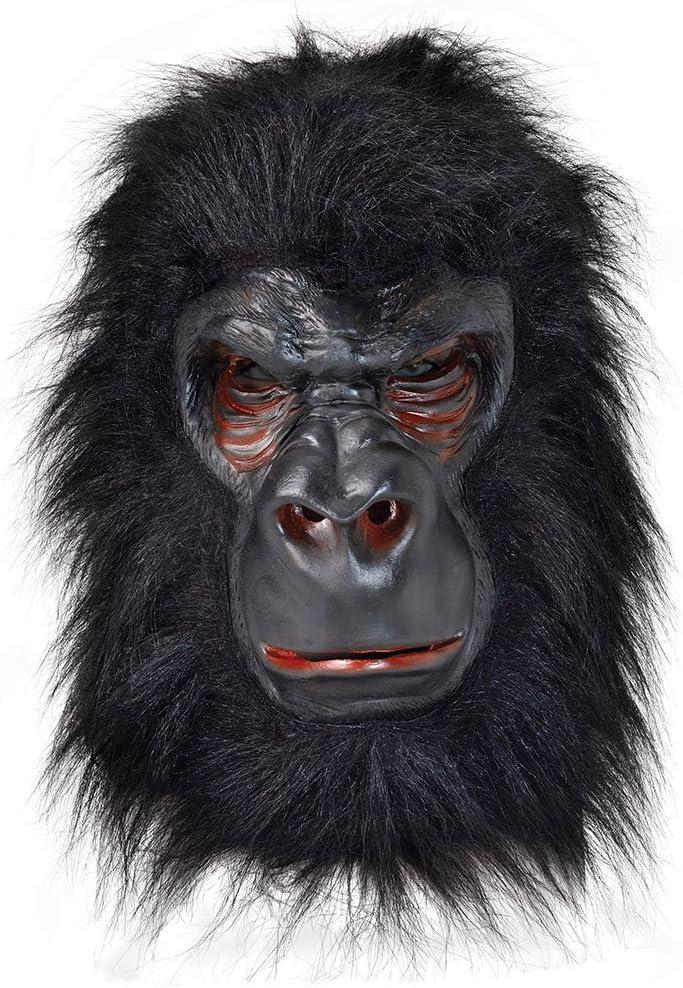 GORILLA Mask Latex With Black Hair (máscara/careta): Bristol ...