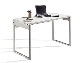 Table de bureau multimédia avec pieds métallisés et table de mm