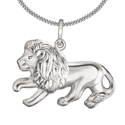Clever Juego de joyas plateado colgante León 13 x 23 mm ...